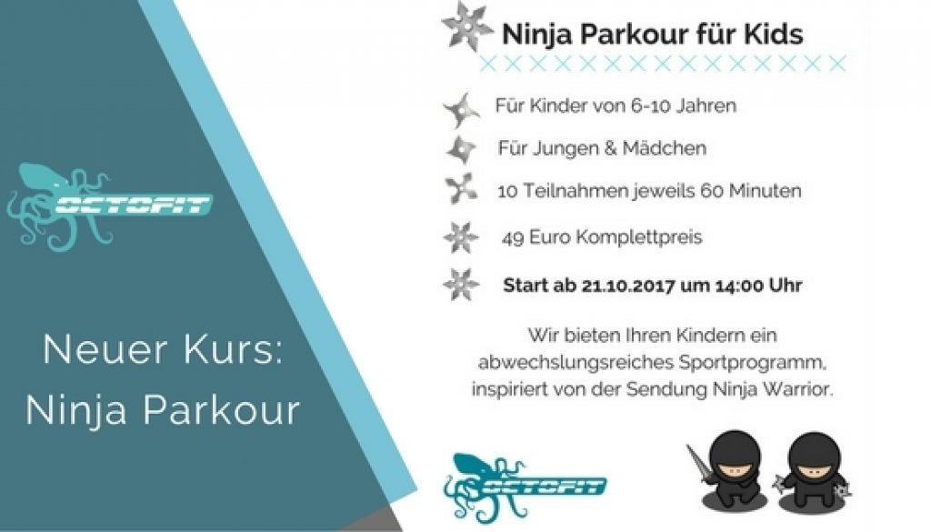 Kinder Kurs Ninja Parkour - Octofit