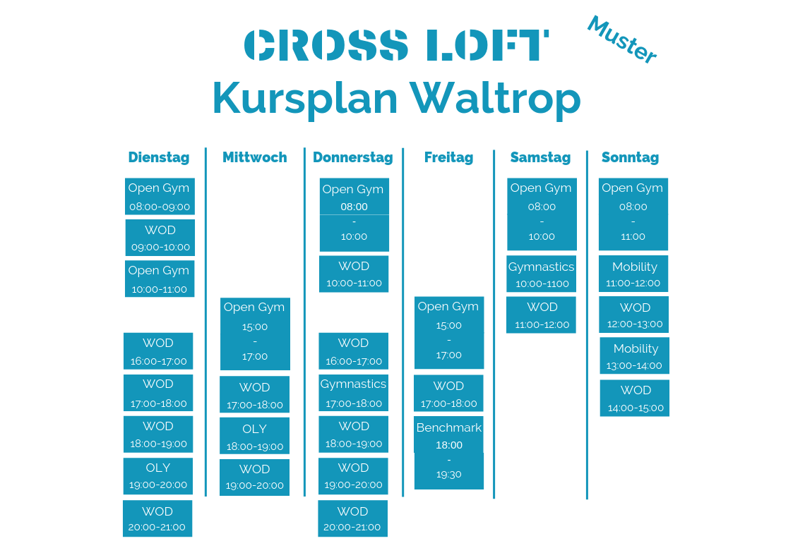 Muster Kursplan Waltrop