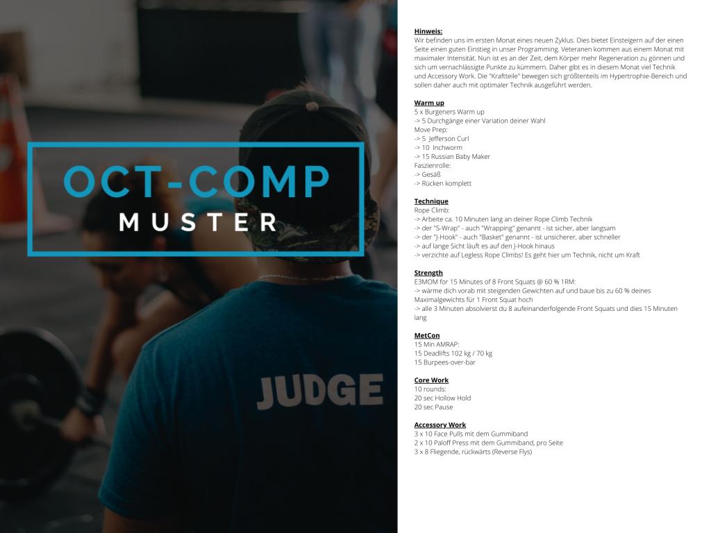 OCT-COMP Crosstraining Muster WOD 1