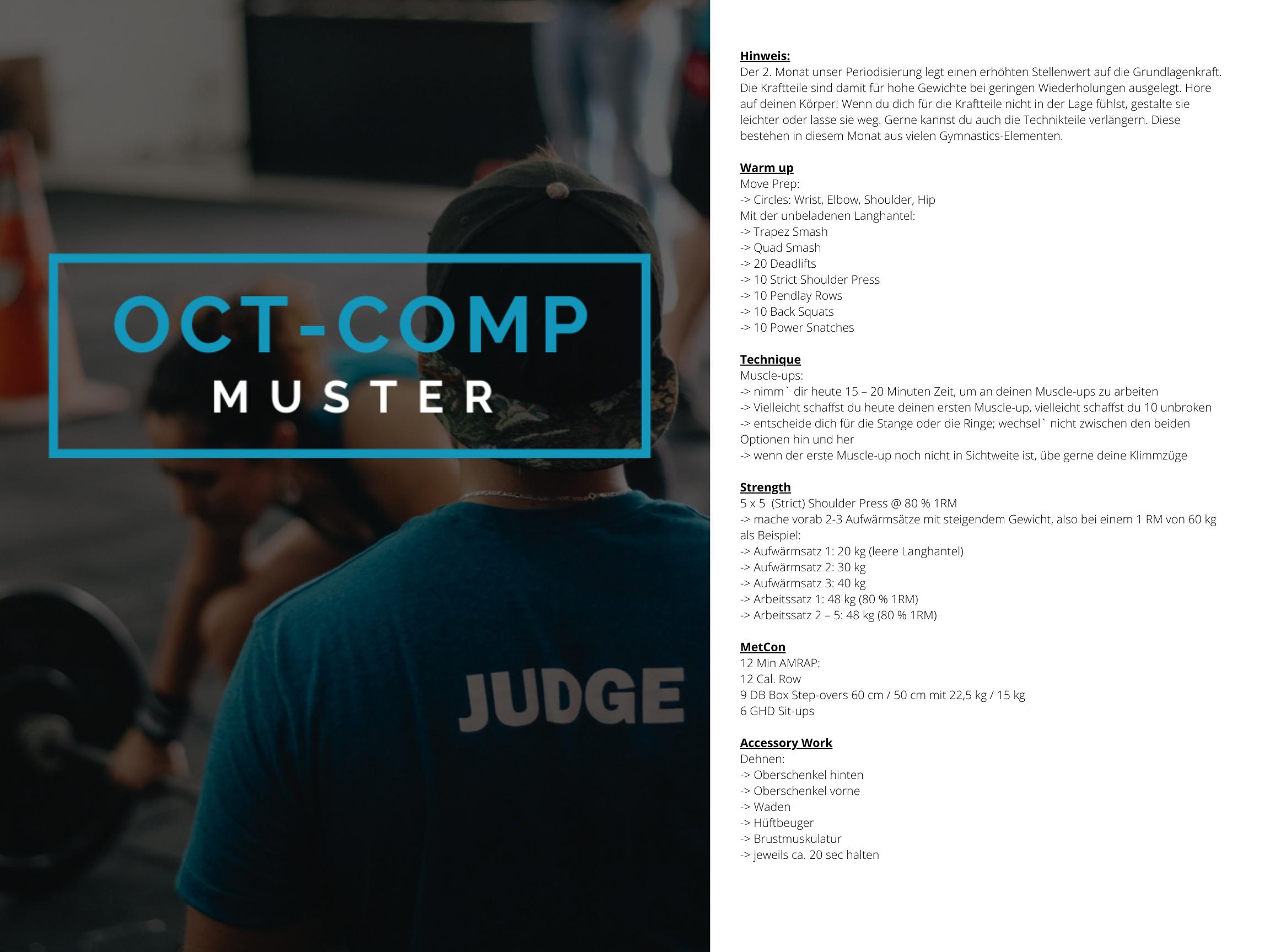 OCT-COMP Crosstraining Muster WOD 2