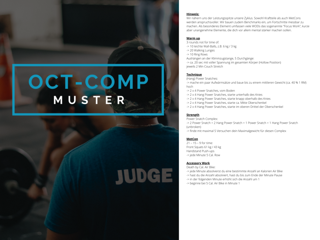OCT-COMP Crosstraining Muster WOD 3