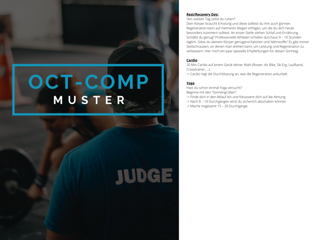 OCT-COMP Crosstraining Muster WOD 4