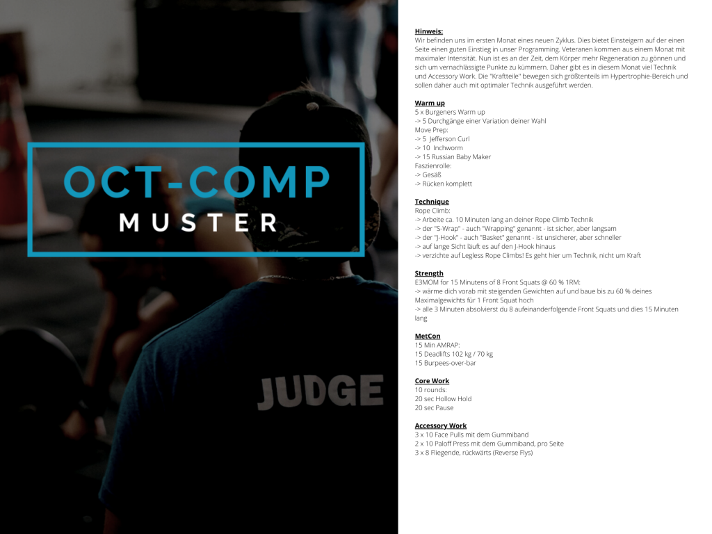 OCT-COMP Muster WOD 1