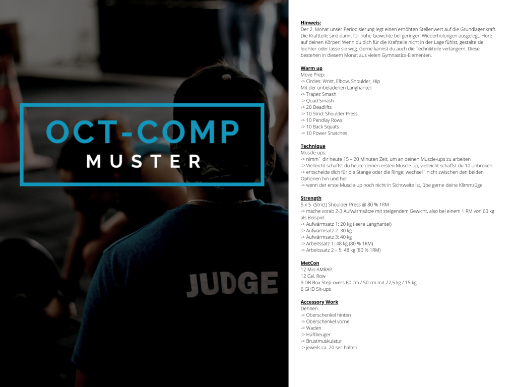 OCT-COMP Muster WOD 2
