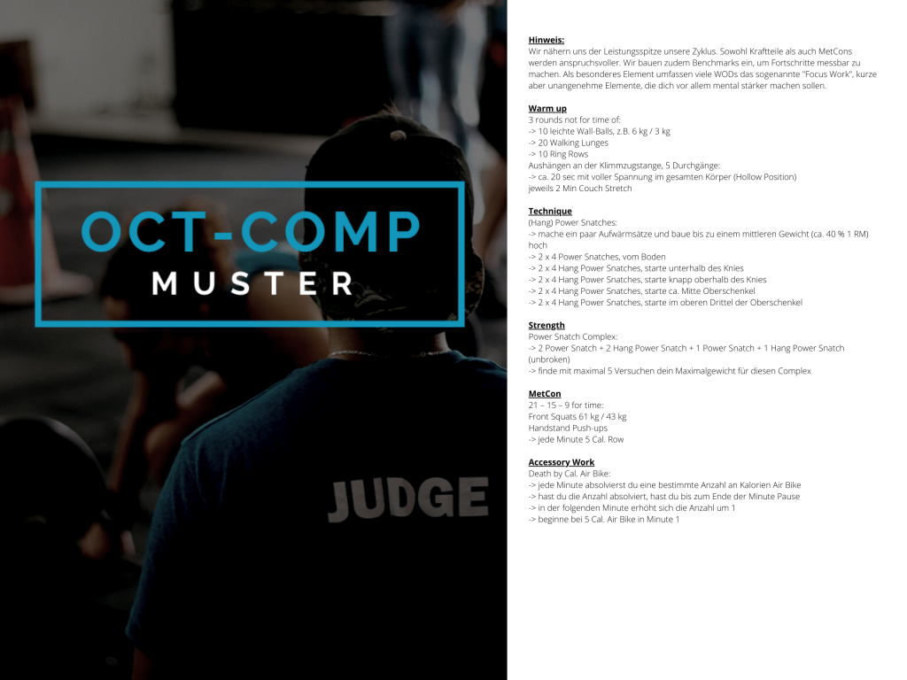 OCT-COMP Muster WOD 3