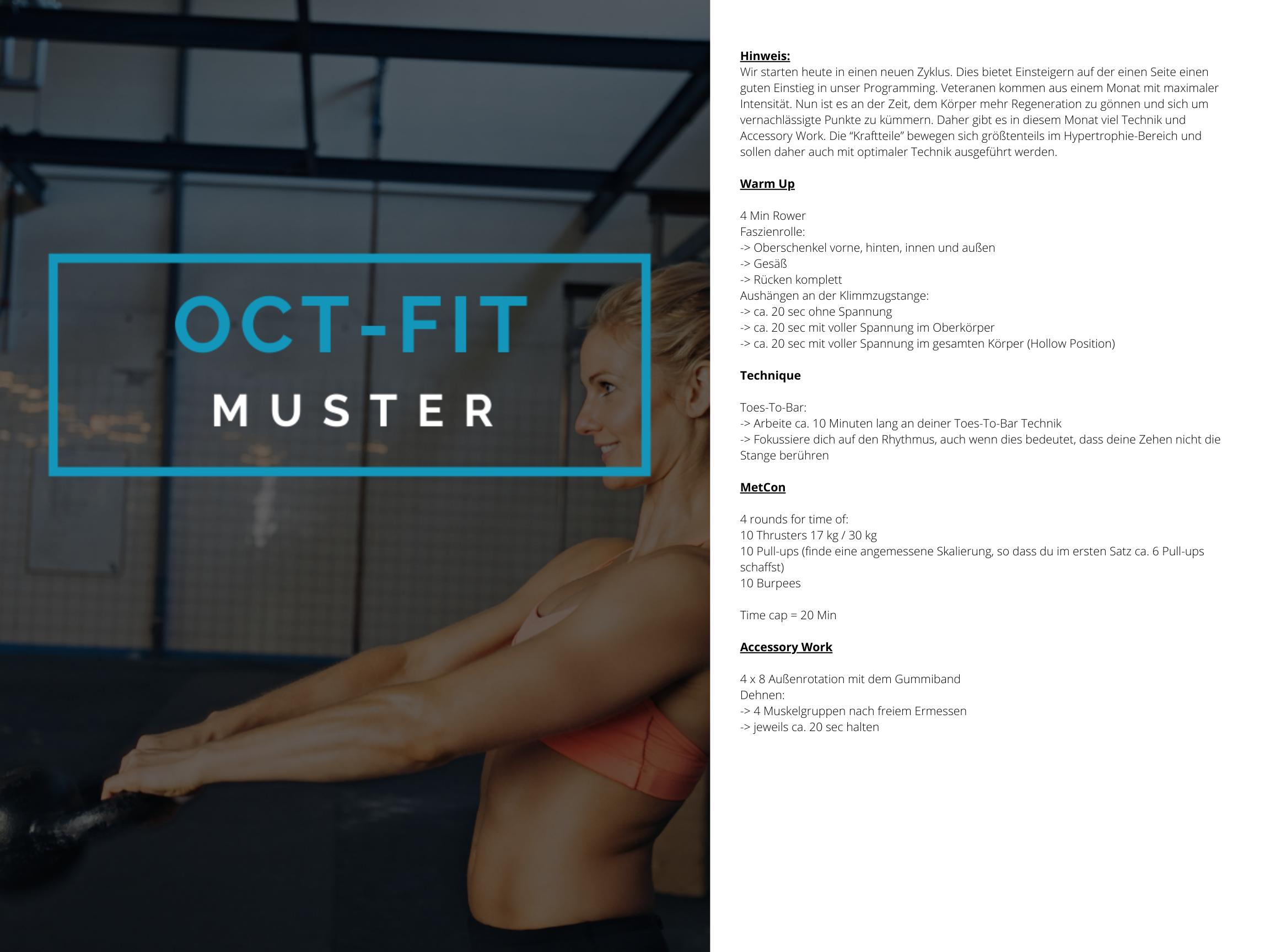 OCT-FIT Crosstraining Muster WOD 1