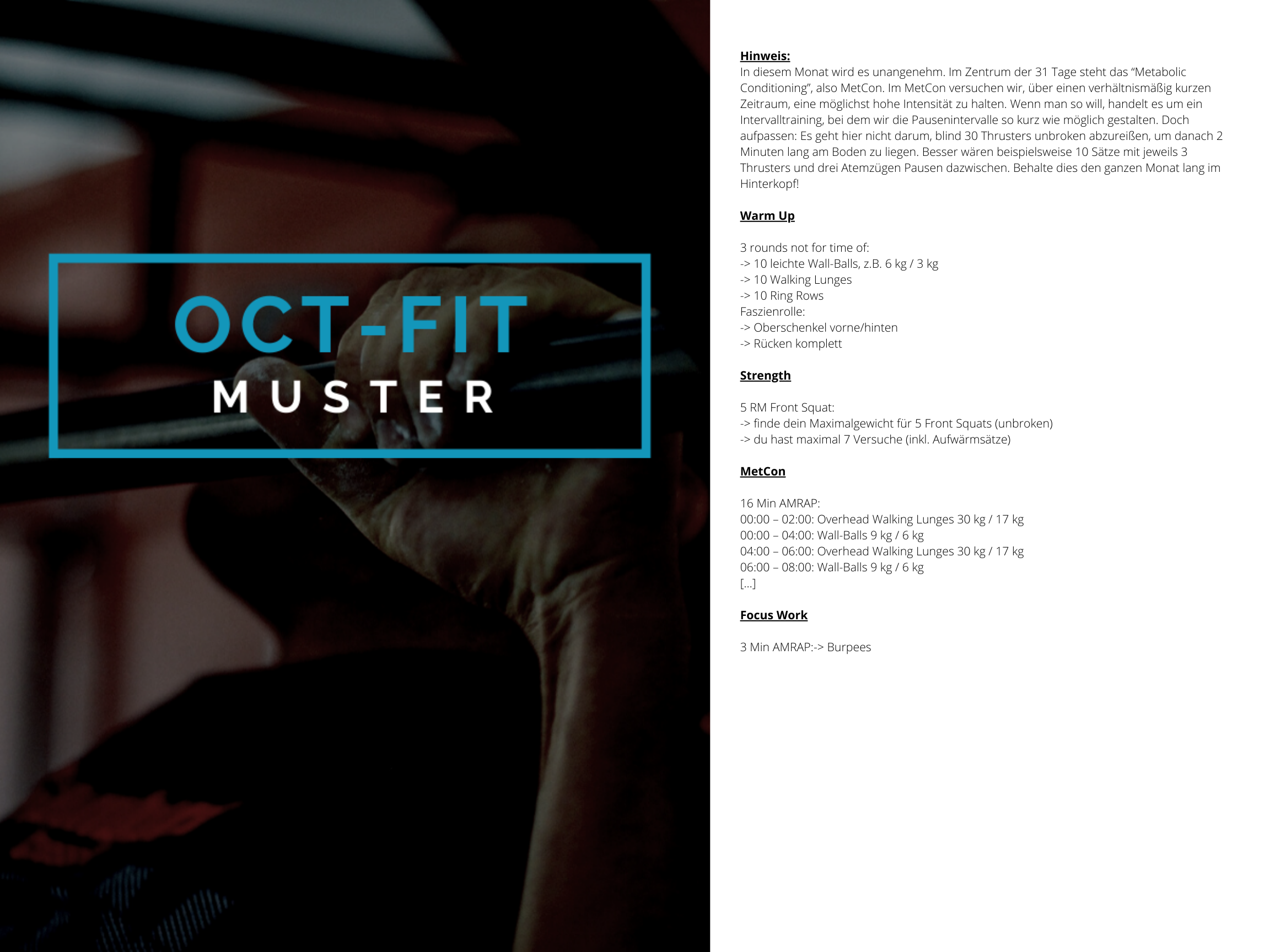 OCT-FIT Muster WOD 1