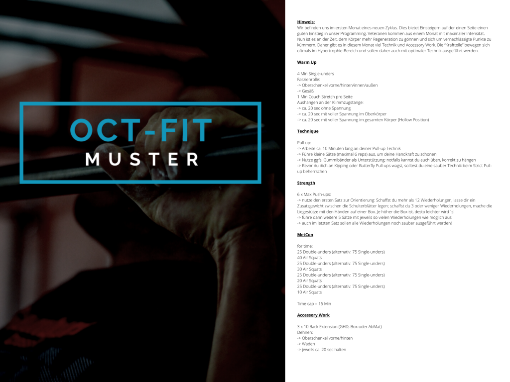 OCT-FIT Muster WOD 2