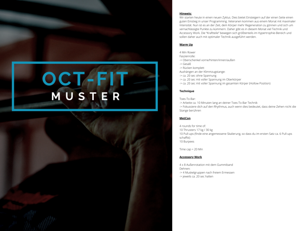 OCT-FIT Muster WOD 3