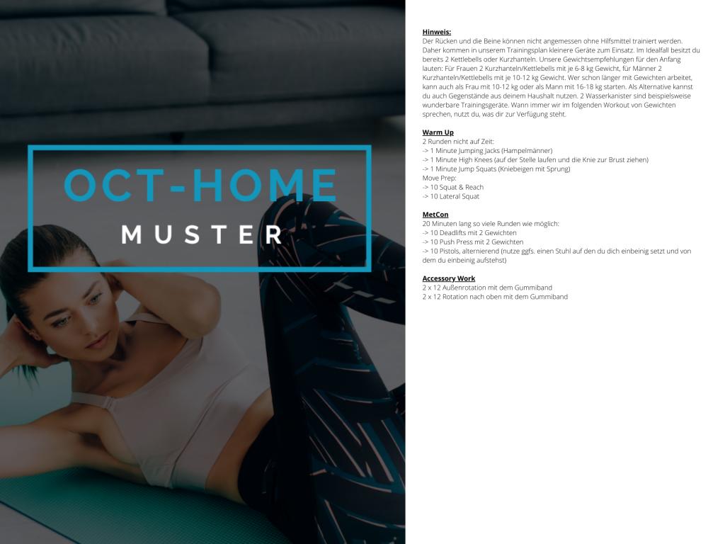 OCT-HOME Muster Trainingsplan 1