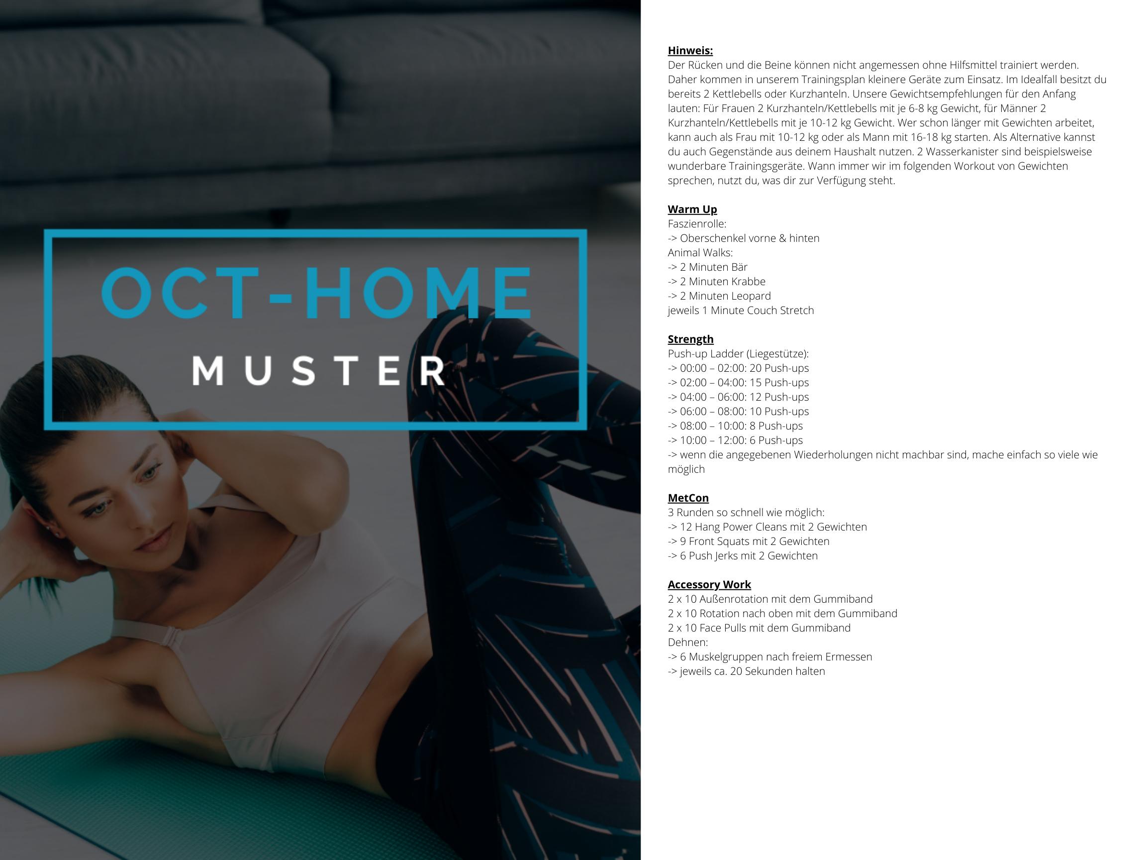 OCT-HOME Muster Trainingsplan 2