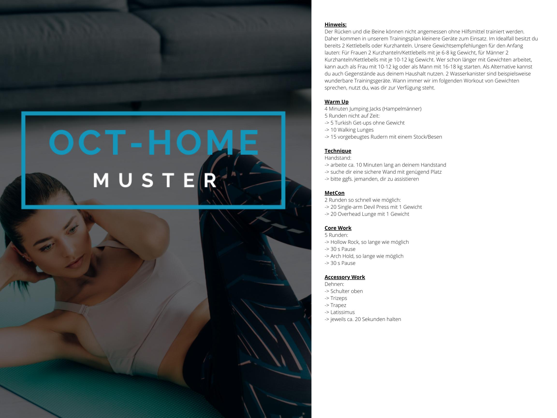 OCT-HOME Muster Trainingsplan 3