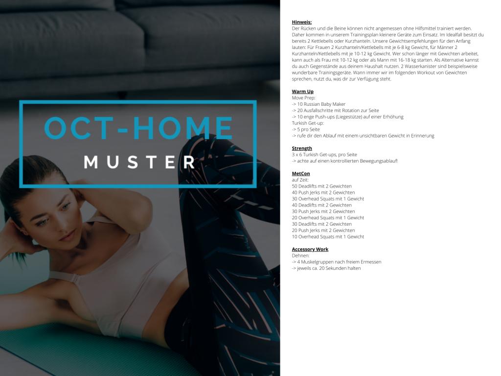 OCT-HOME Muster Trainingsplan 4