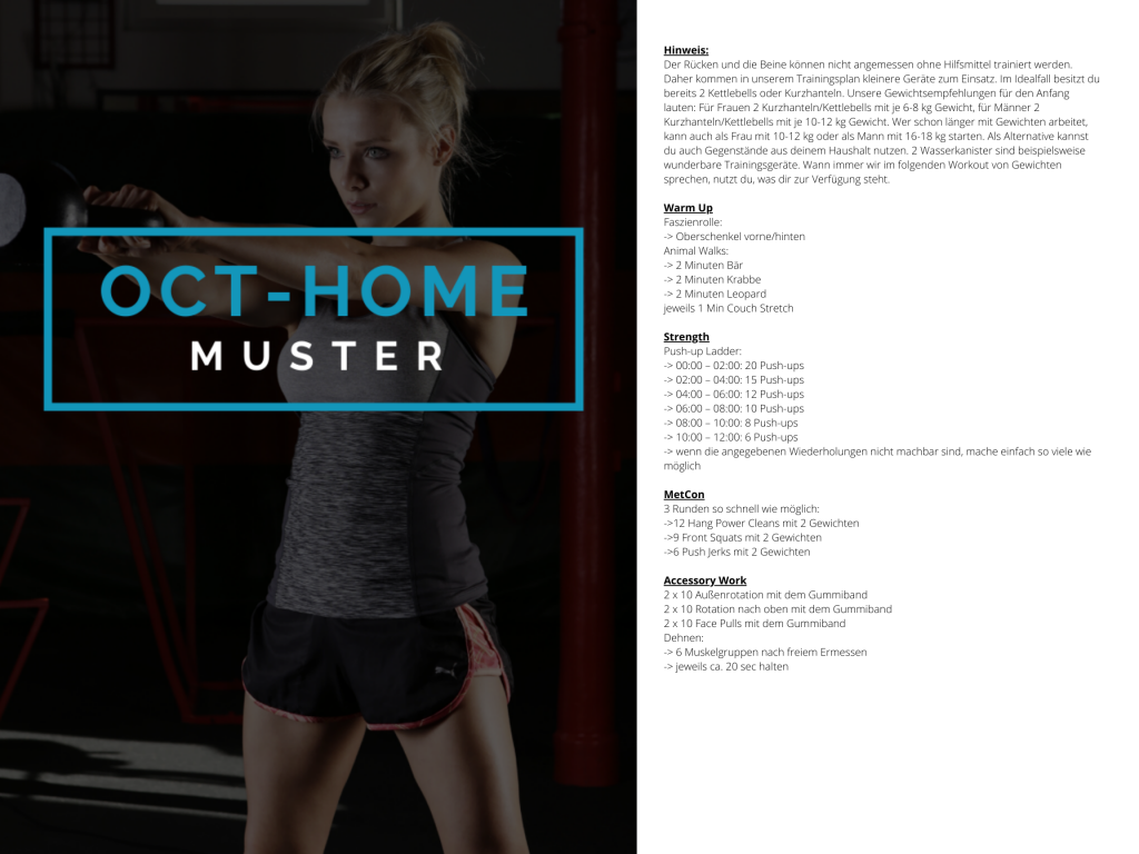 OCT-HOME Muster WOD 2