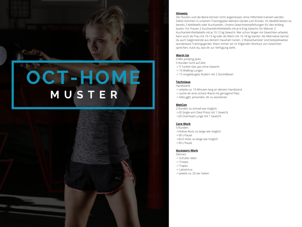 OCT-HOME Muster WOD 3