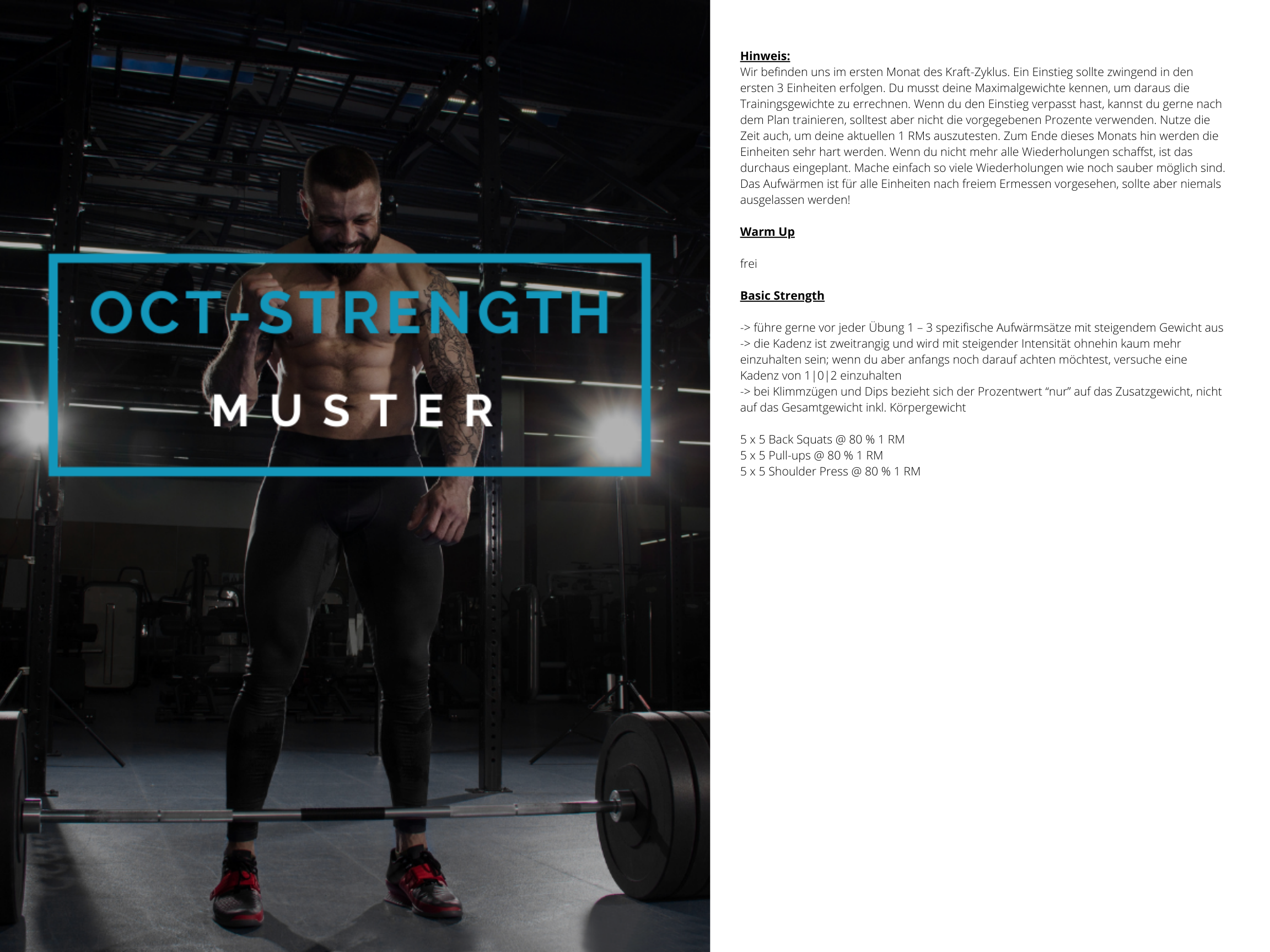 OCT-STRENGTH Muster Trainingsplan 1