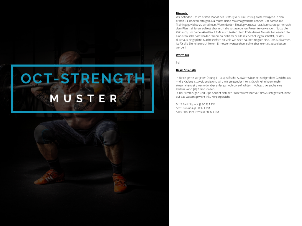 OCT-STRENGTH Muster WOD 1