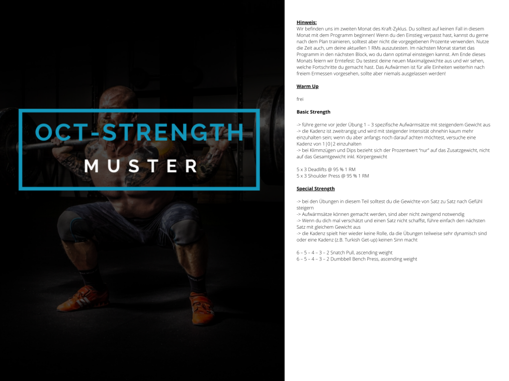 OCT-STRENGTH Muster WOD 2