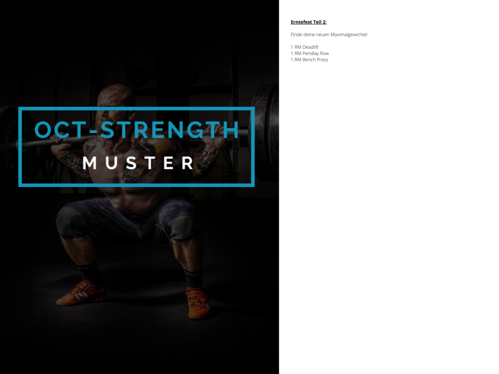 OCT-STRENGTH Muster WOD 4
