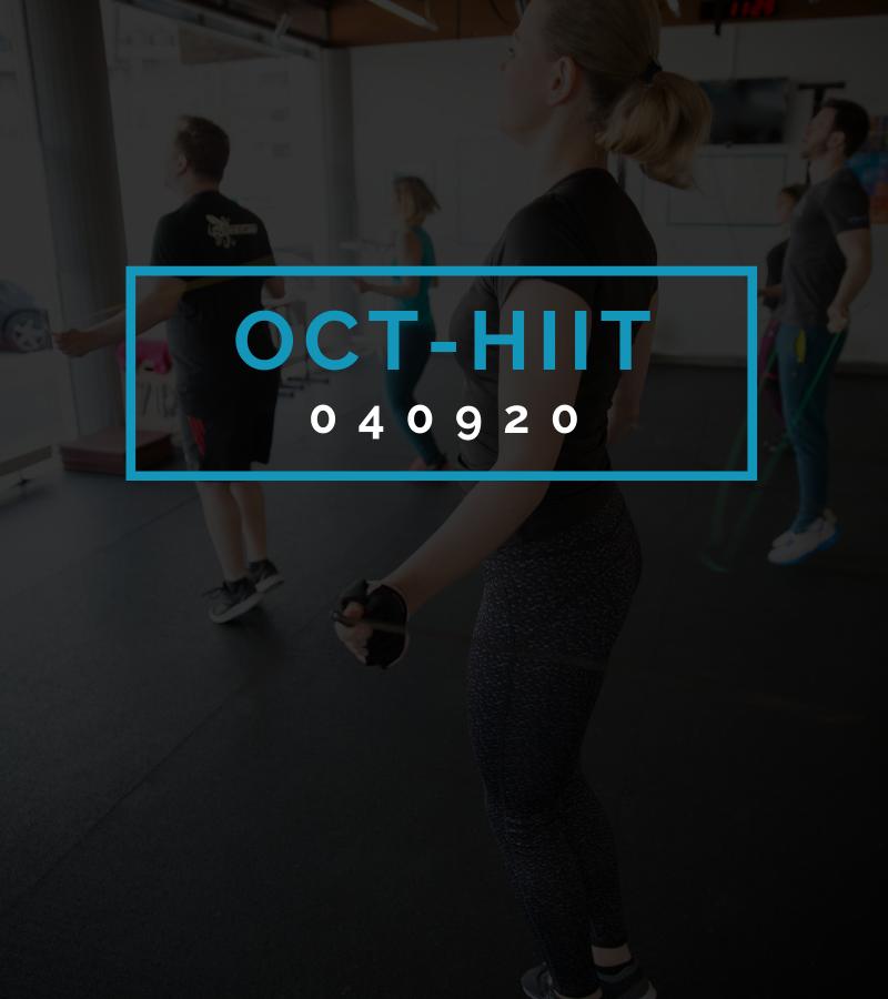Octofit High Intensity Intervall Programming OCT-HIIT 040920