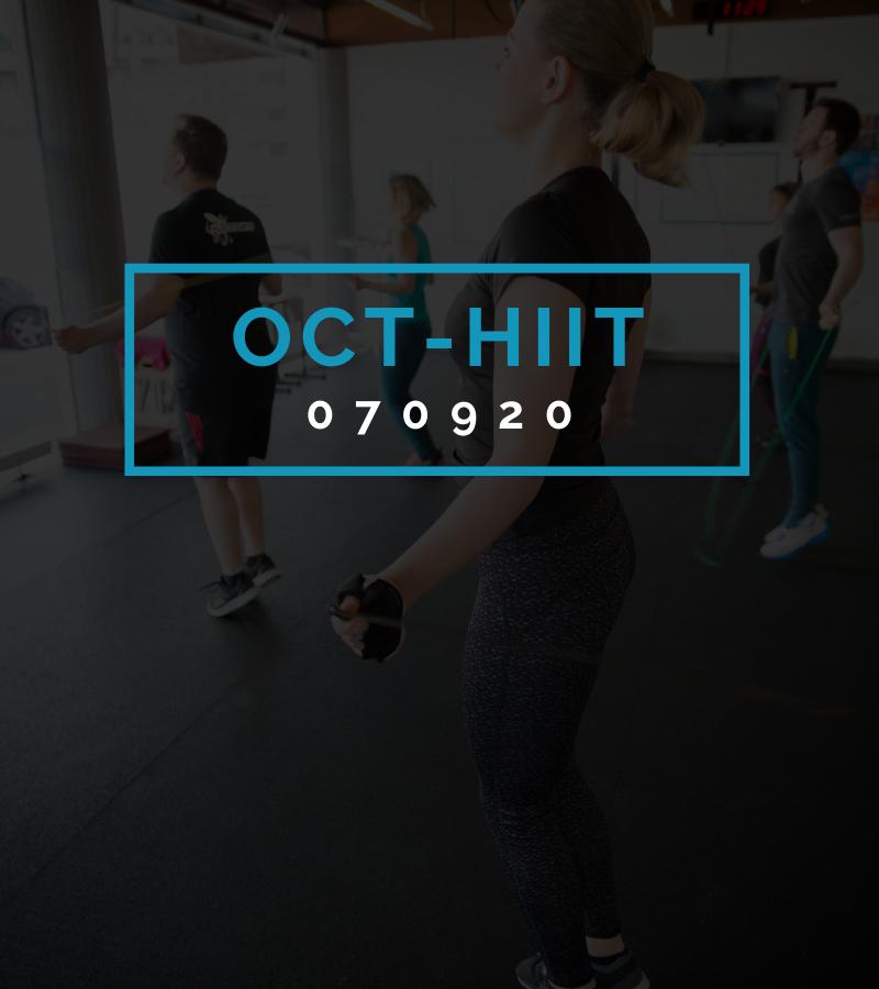 Octofit High Intensity Intervall Programming OCT-HIIT 070920