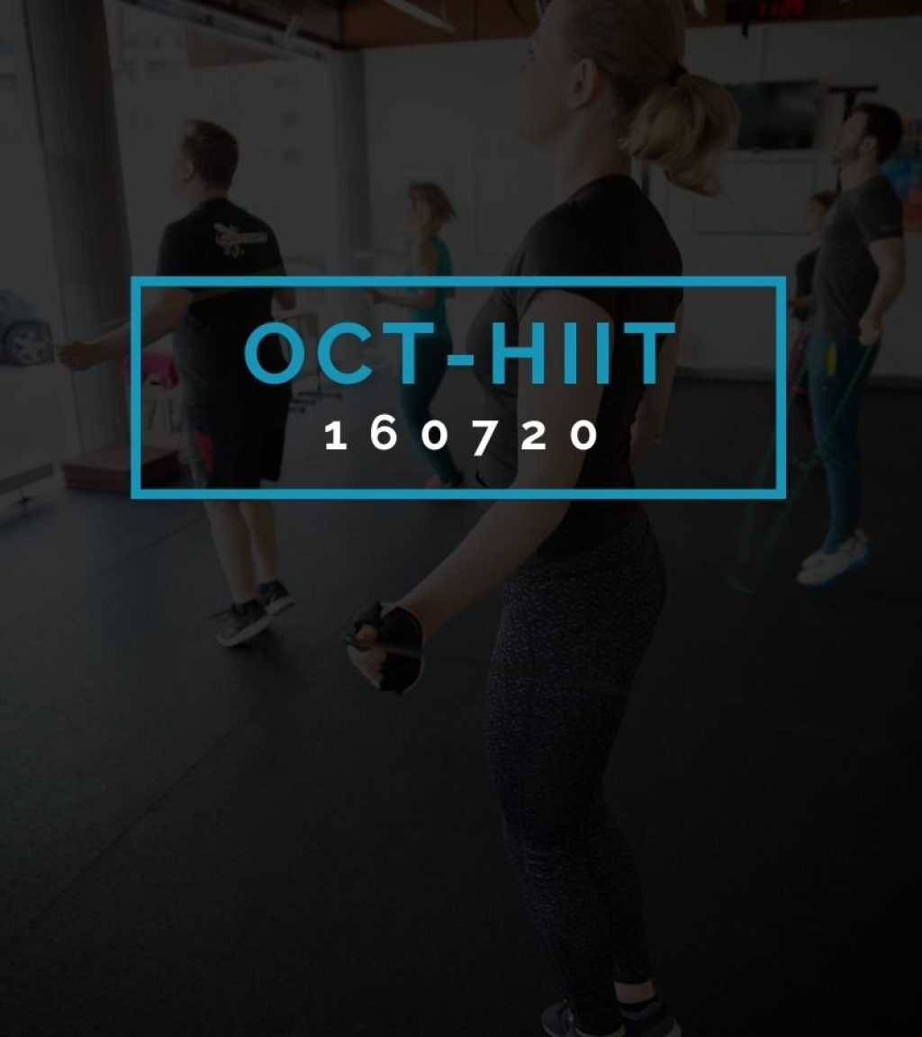 Octofit High Intensity Intervall Programming OCT-HIIT 160720