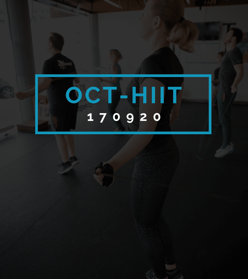Octofit High Intensity Intervall Programming OCT-HIIT 170920