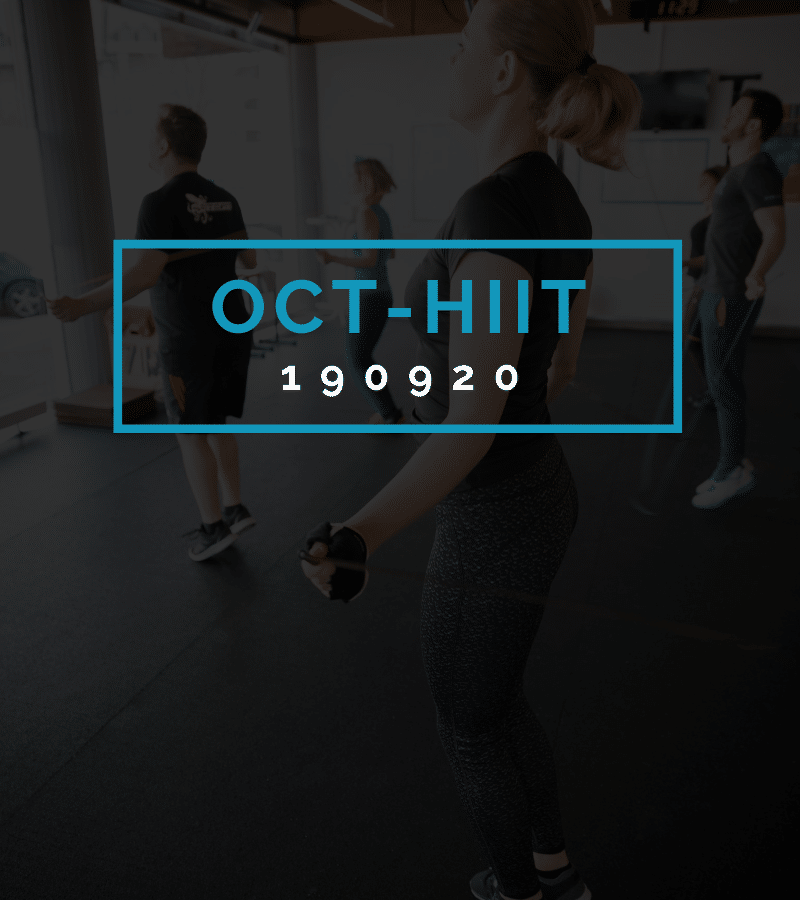 Octofit High Intensity Intervall Programming OCT-HIIT 190920