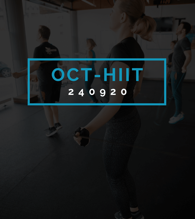 Octofit High Intensity Intervall Programming OCT-HIIT 240920