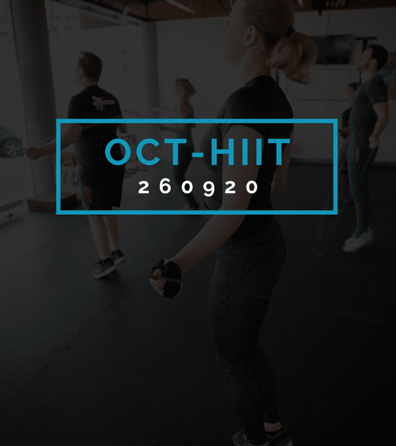 Octofit High Intensity Intervall Programming OCT-HIIT 260920