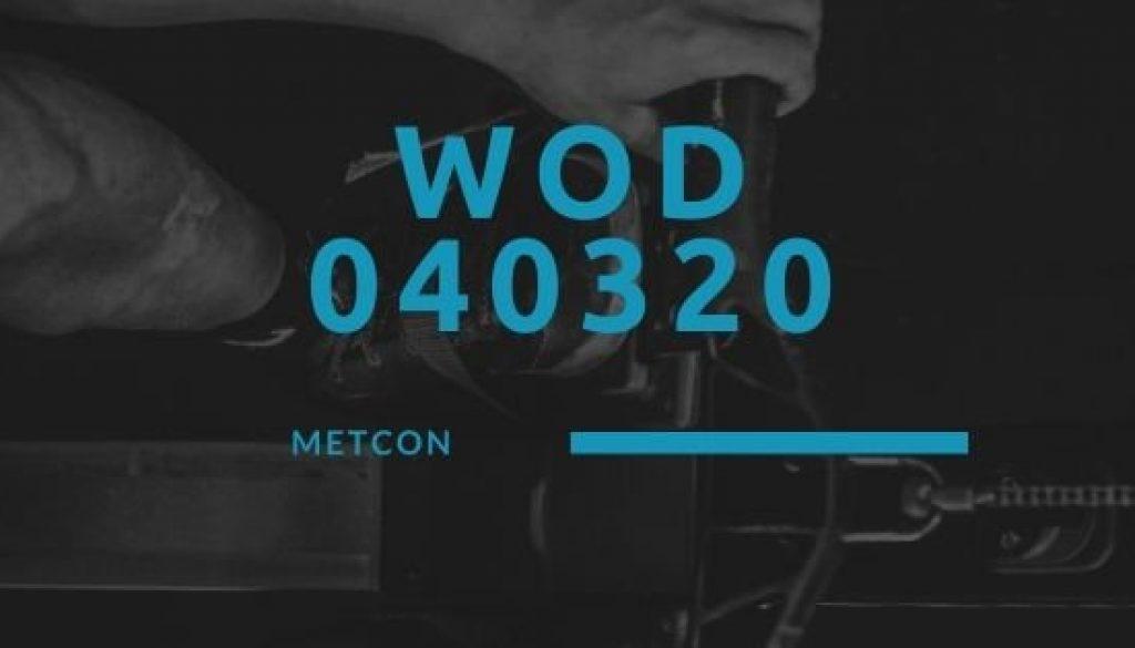 WOD 040320 Octofit