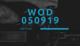 WOD 050919 Octofit Cross Loft