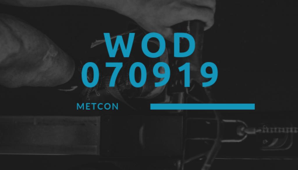 WOD 070919 Octofit Cross Loft