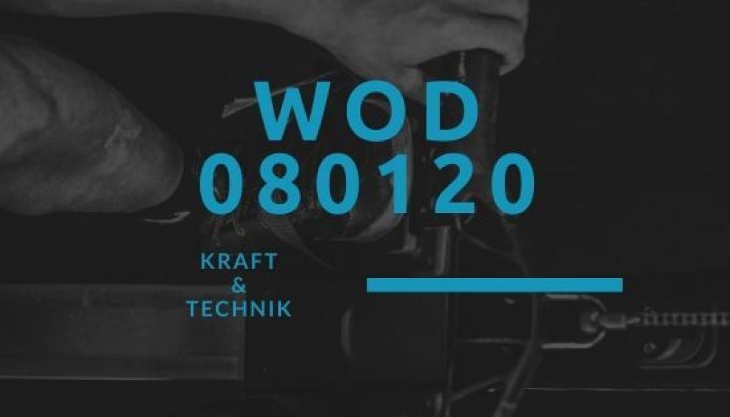WOD 080120 Octofit