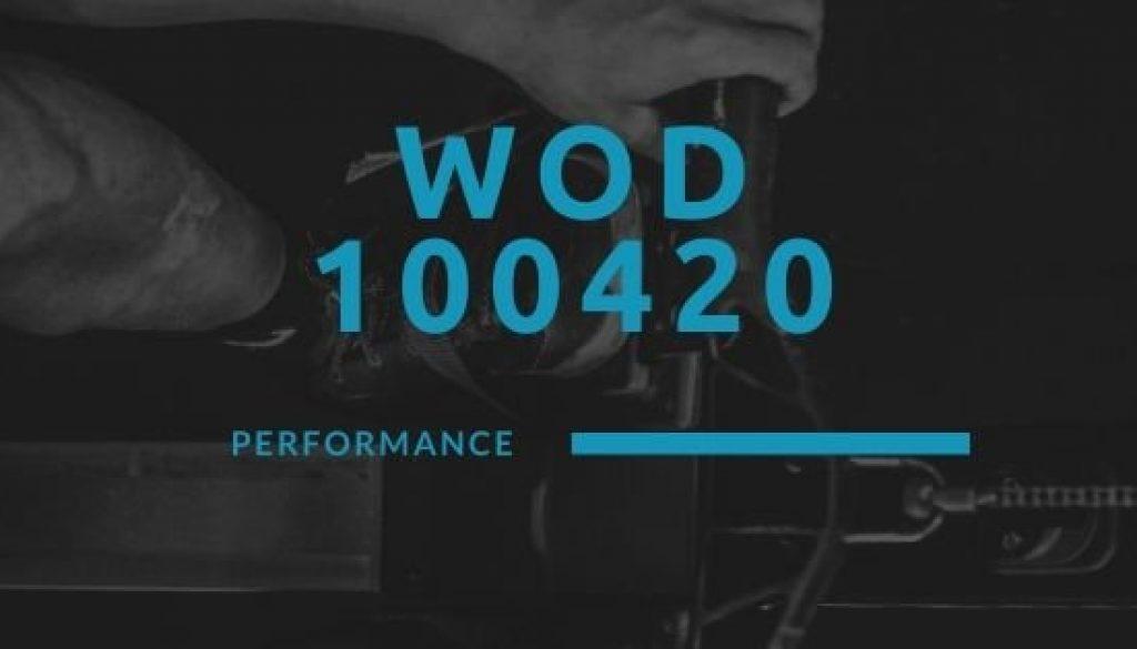 WOD 100420 Octofit