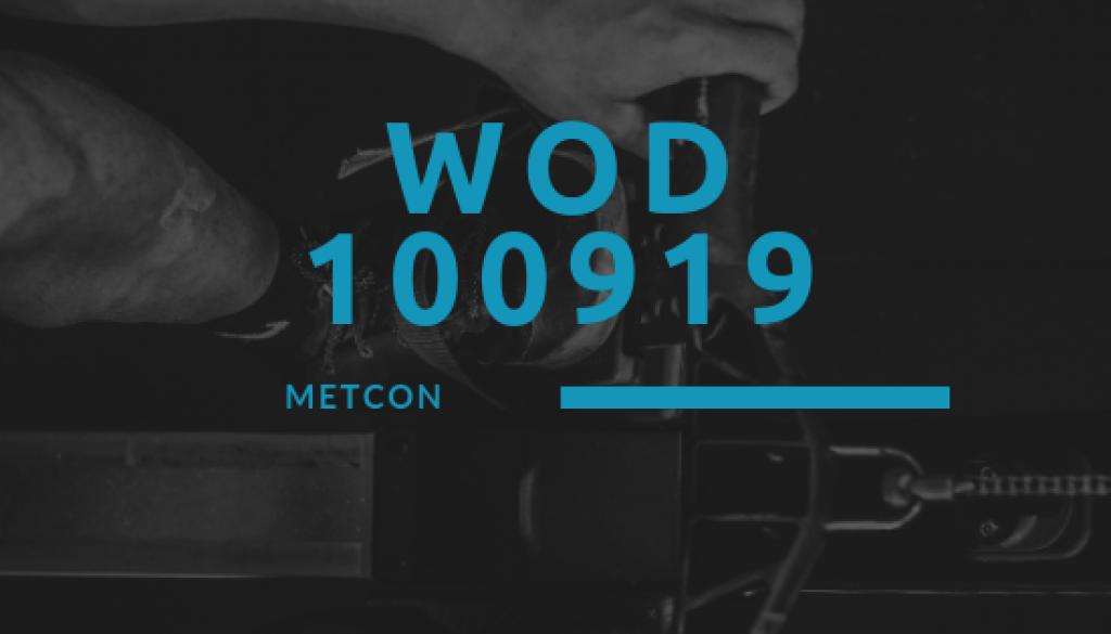 WOD 100919 Octofit Cross Loft