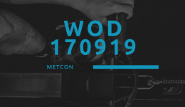 WOD 170919 Octofit Cross Loft