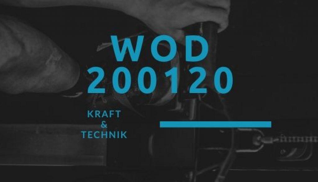 WOD 200120 Octofit