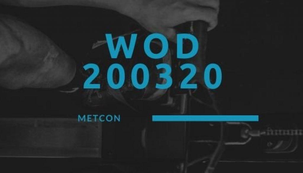 WOD 200320 Octofit