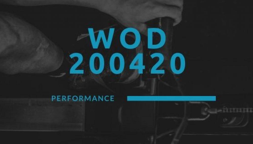 WOD 200420 Octofit