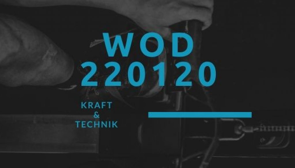 WOD 220120 Octofit
