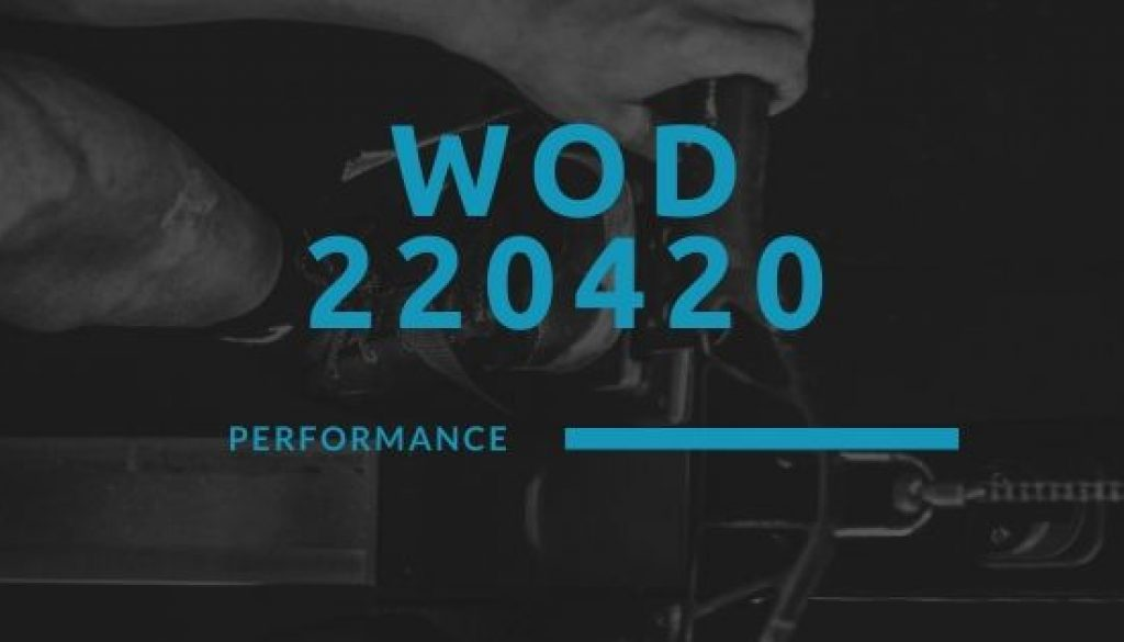 WOD 220420 Octofit