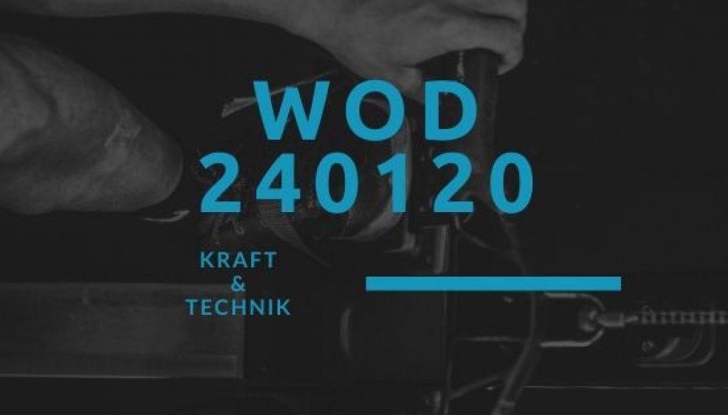 WOD 240120 Octofit