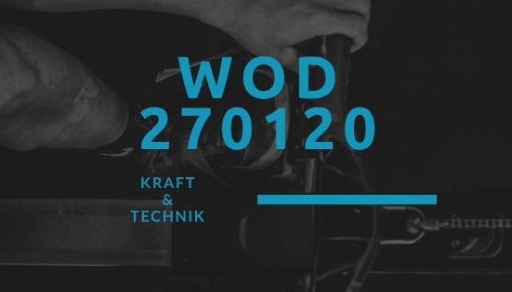 WOD 270120 Octofit