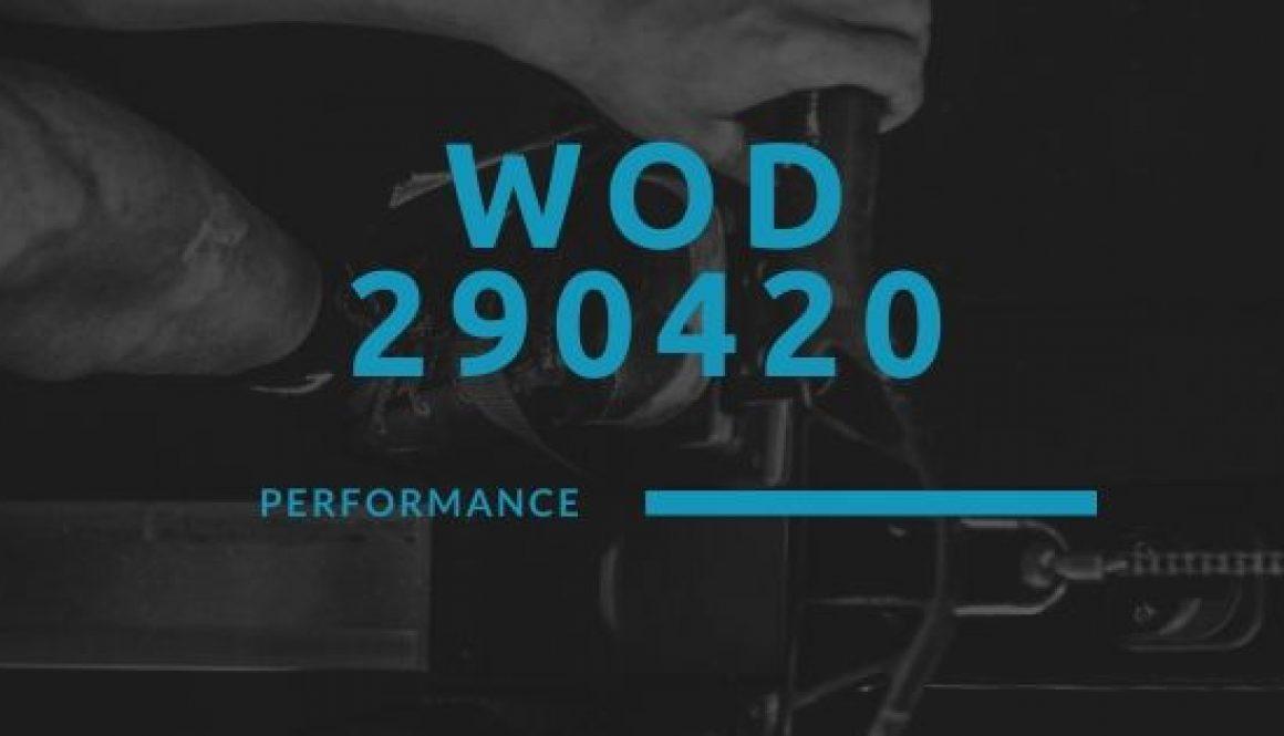 WOD 290420 Octofit